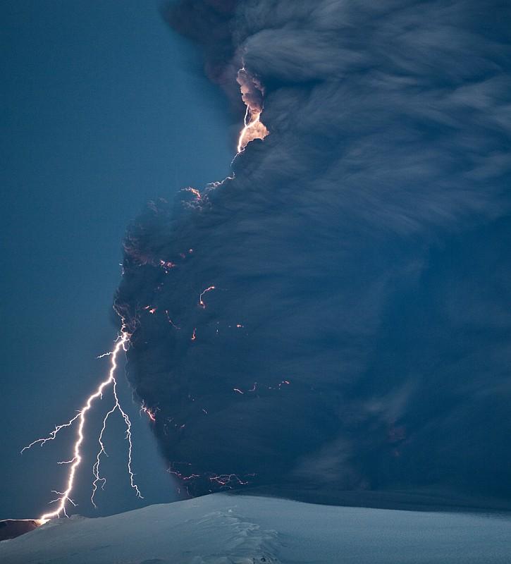 нашумевший вулкан Eyjafjallajokull