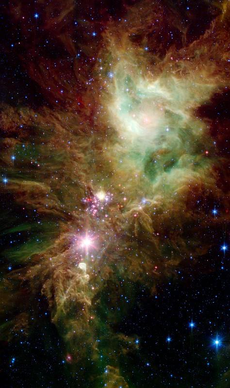 Скопление Снежинки или NGC 2264