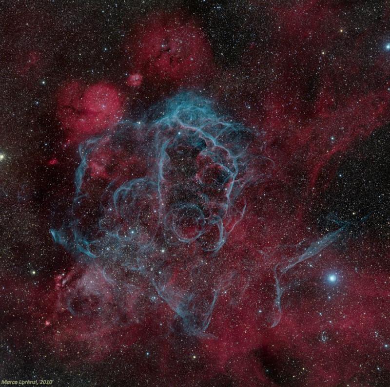 Остаток сверхновой в созвездии Паруса