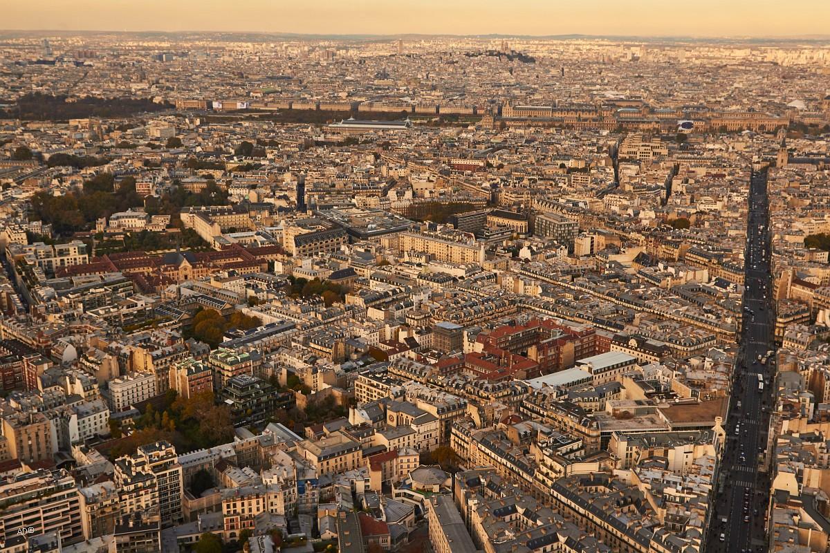Париж 2018 - Виды с башни Монпарнас, общие виды