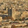Париж 2018 — Виды с башни Монпарнас, крупные планы, Нотр-Дам