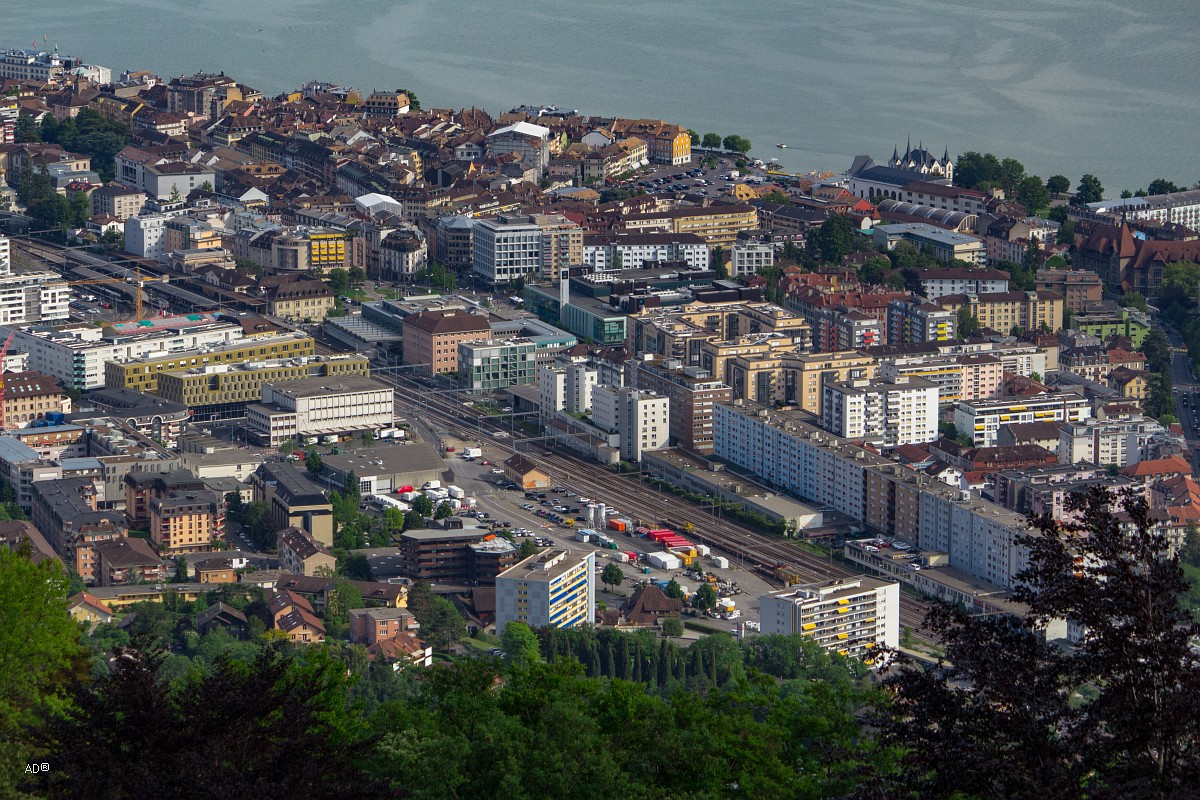 Женева - Веве, крупные планы
