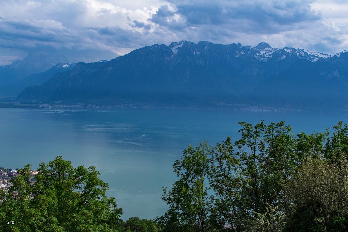 Женева - Веве, Виды на французскую сторону