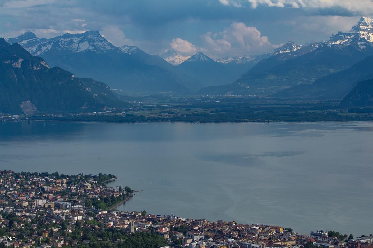 Женева - Веве, Виды на Новилль