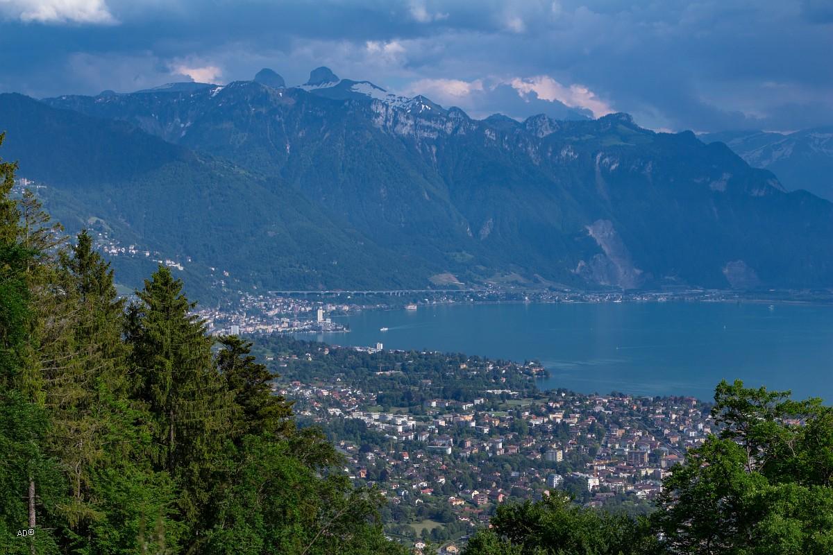 Женева - Веве, Виды на Монтре