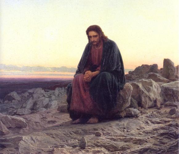 Христос в пустыне Крамского