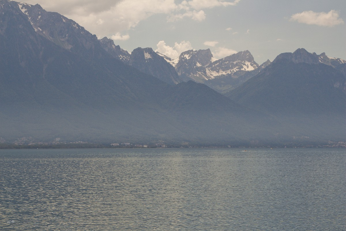 Женева - Монтре - Набережная, крупные планы