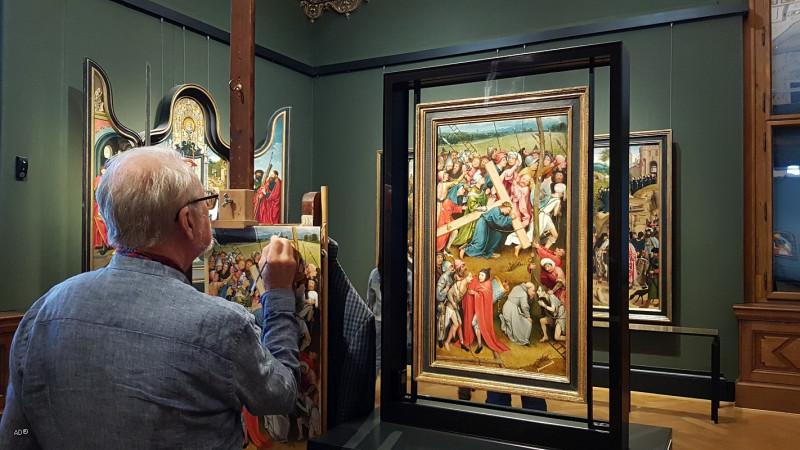 Репродукция картины «Иероним Босх - Несение креста, 1500 г.»