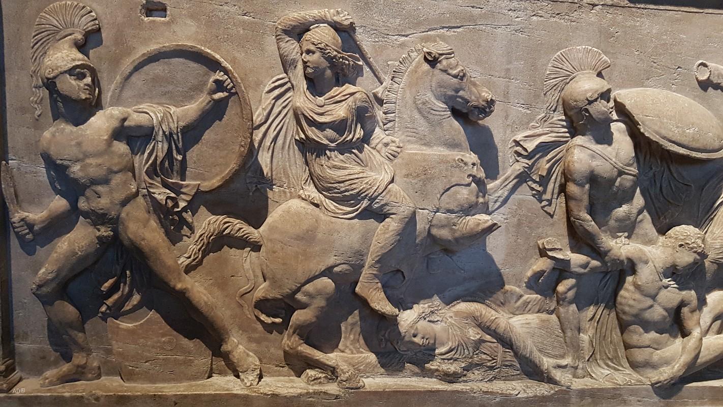 САРКОФАГ АМАЗОНОК, Древняя Греция, поздняя классика, IV век до н.э.