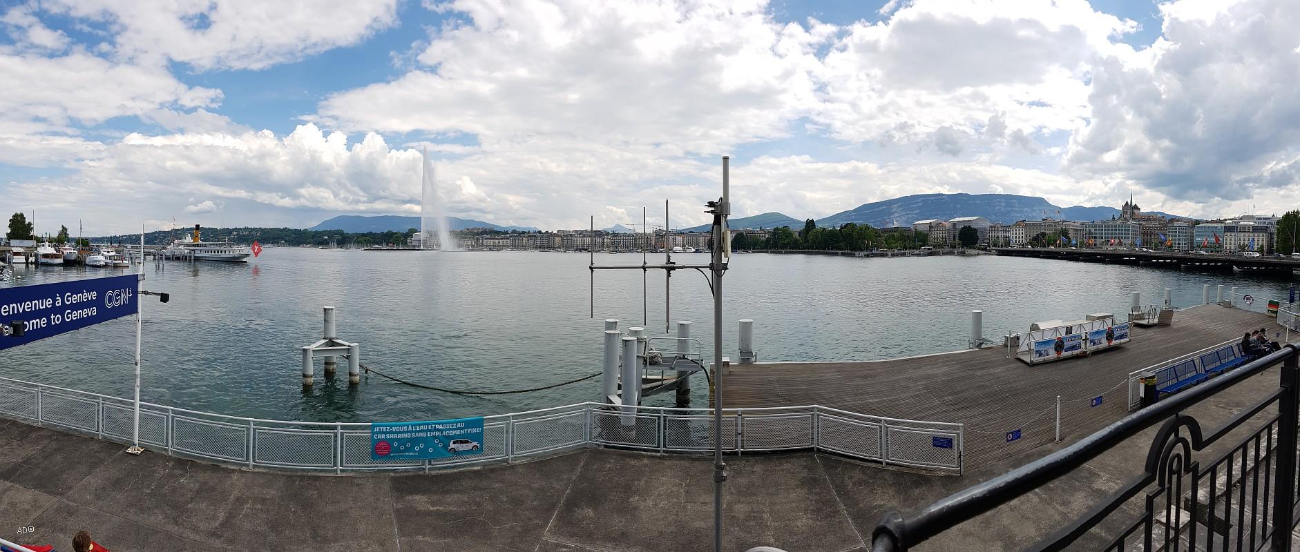 Фонтан Же-До (фр. Струя воды), Женева, Швейцария