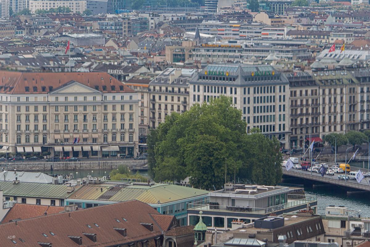 Женева - Виды с Женевского собора