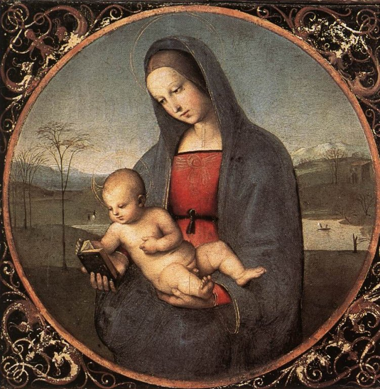 Raffaello - Madonna with the Book (Connestabile Madonna)