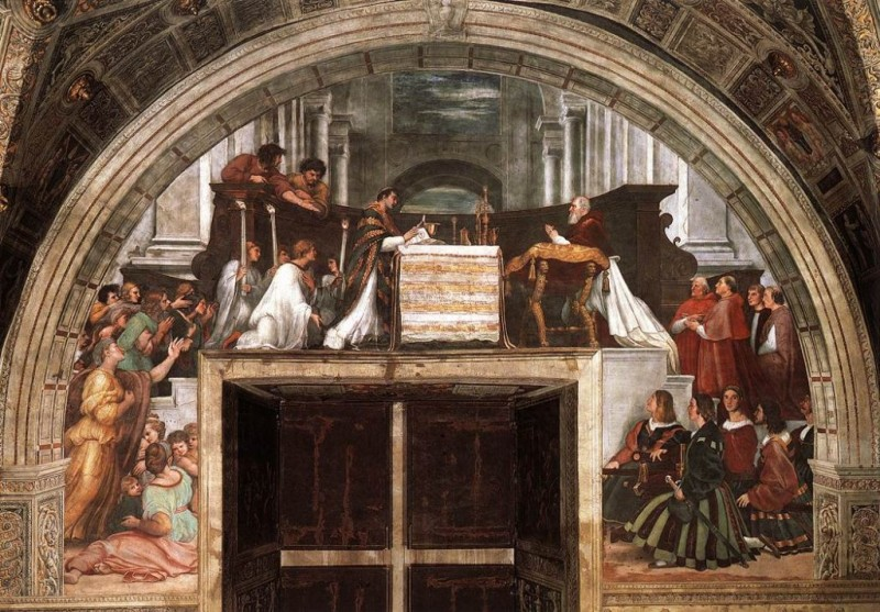 Raffaello - Stanze Vaticane - The Mass at Bolsena