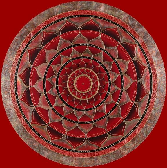 Round Red Mandala