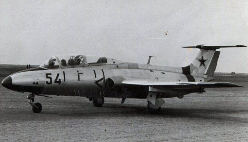 1969 г. самолет Л29 в Качинском летном училище