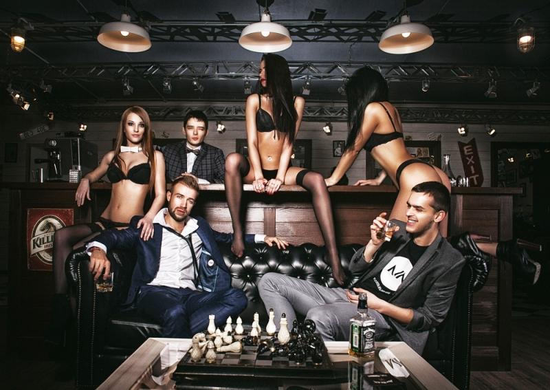 шахматы в баре