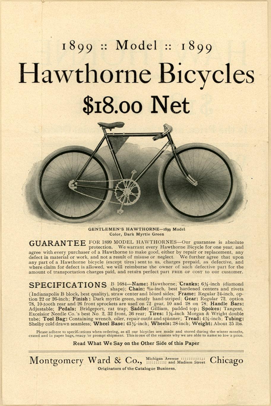 Montgomery Ward & Co. 1899