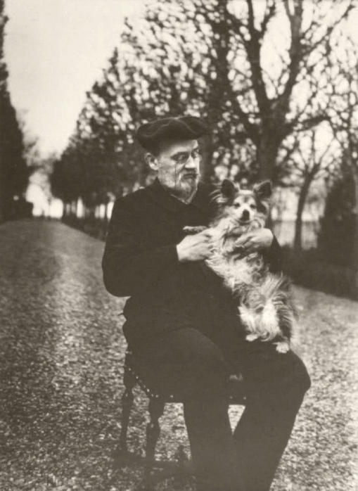 Эмиль Золя и его собака