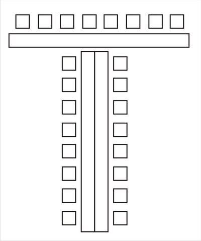 Схемы расстановки столов для