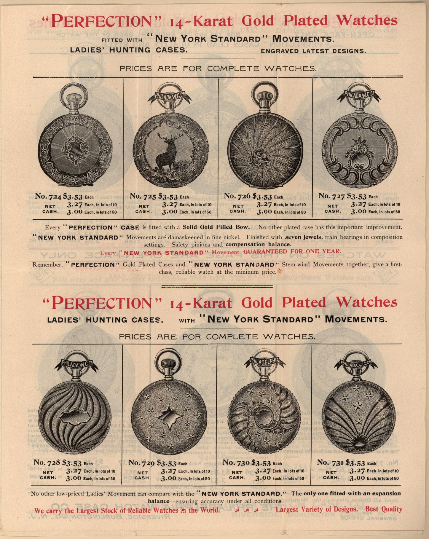 Реклама часов девятнадцатого века