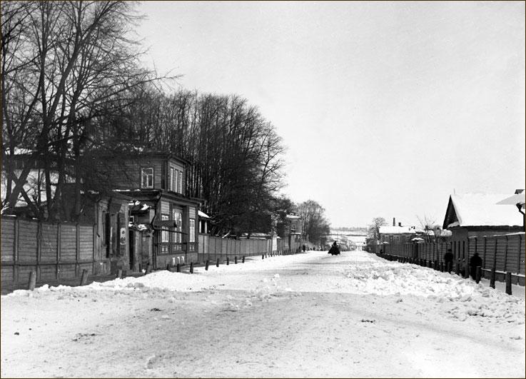 Зимний вид на ул. Тихоновскую (сейчас ул. Ульянова), Нижний Новгород