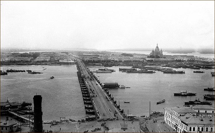 Плашкоутный мост через Оку