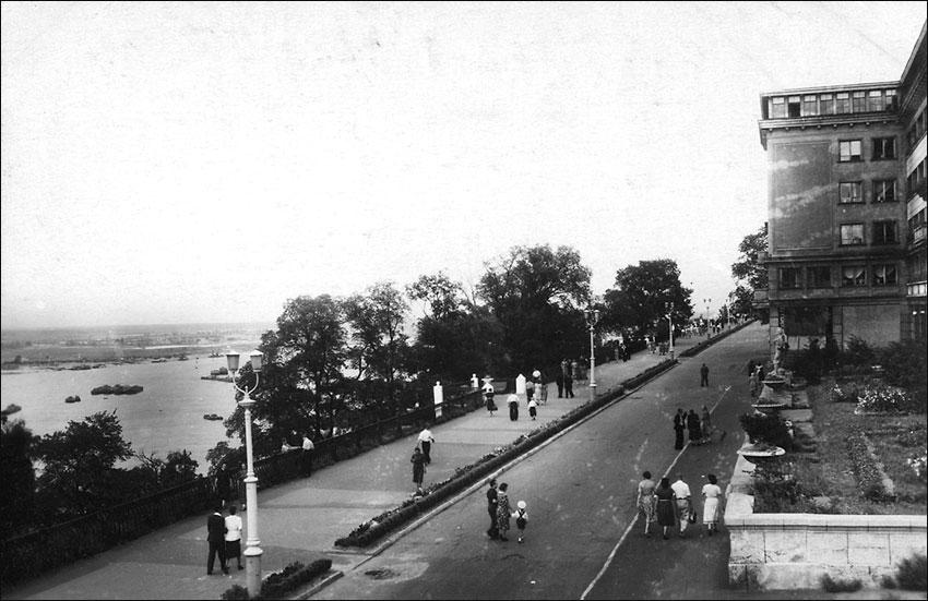 г. Горький, Набережная им А. Жданова, 1955 г.