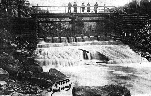 Лесопилка с водяным приводом, находилась на реке Белокуриха