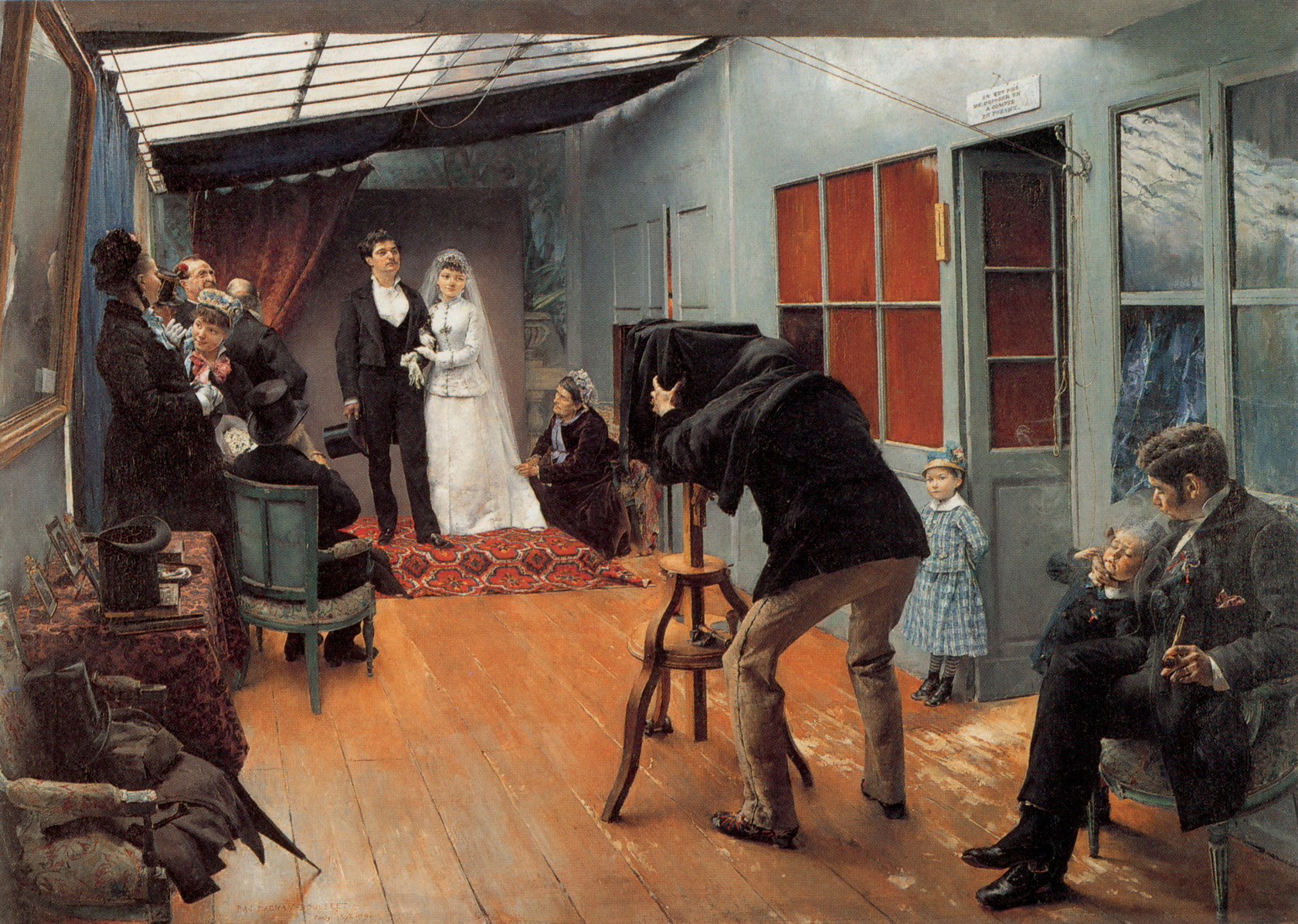 Dagnan-Bouveret, Pascal - Wedding Party At The Photographer's Studio, 1879