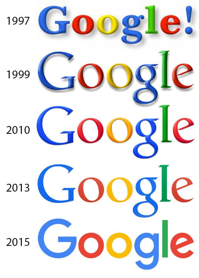 Эволюция логотипа Google 1997—2015: arbuzov — LiveJournal
