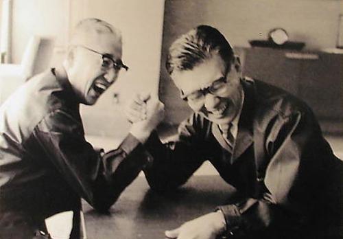 Масару Ибука и Акё Морита