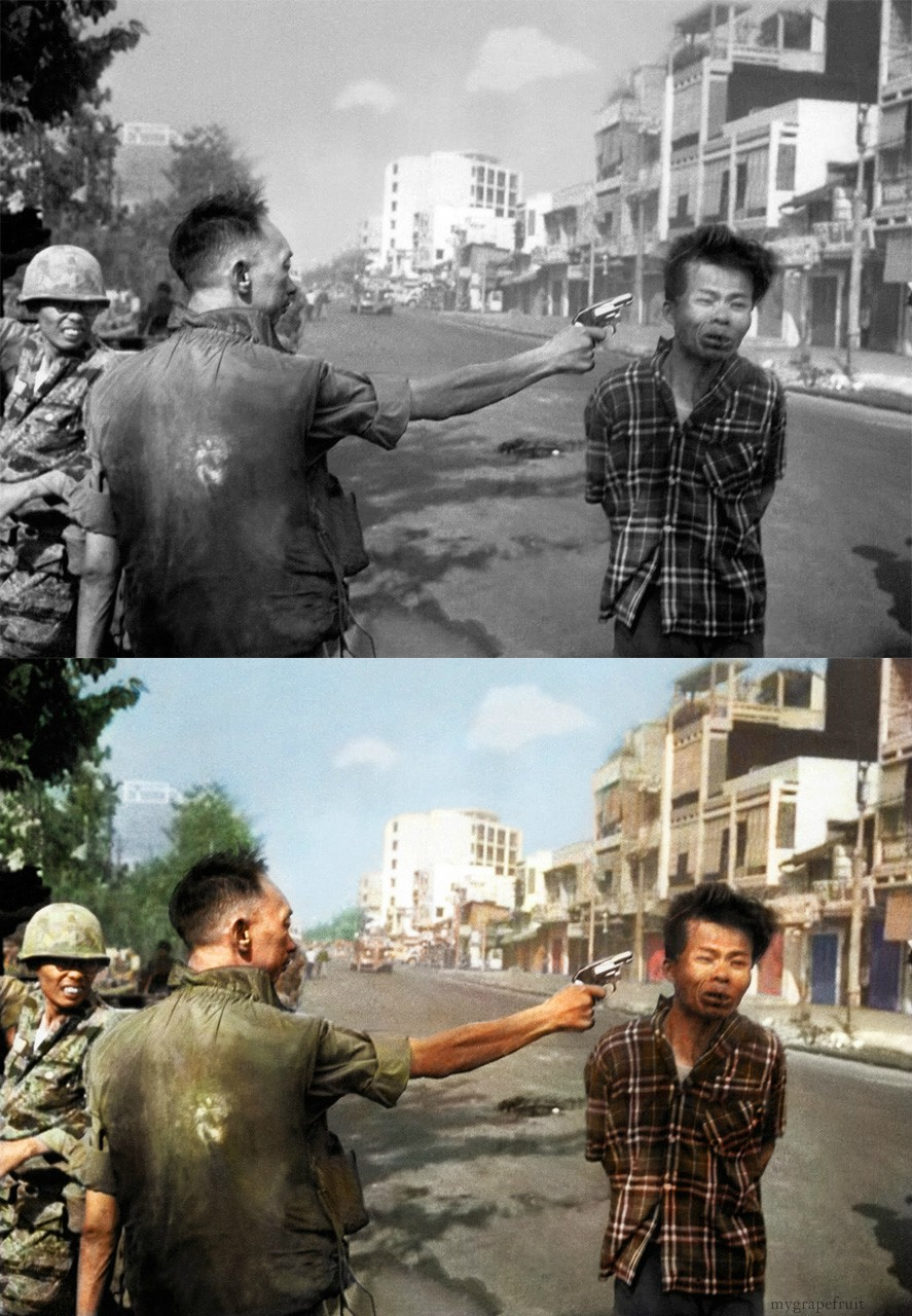 Taken by the late great Adams during the 1968 Tet offensive, it shows Nguyen Ngoc Loan, South Vietnam's national police chief, shooting a prisoner who was said to be a Viet Cong captain. Adams, an Associated Press photographer, won a Pulitzer Prize for the photo.