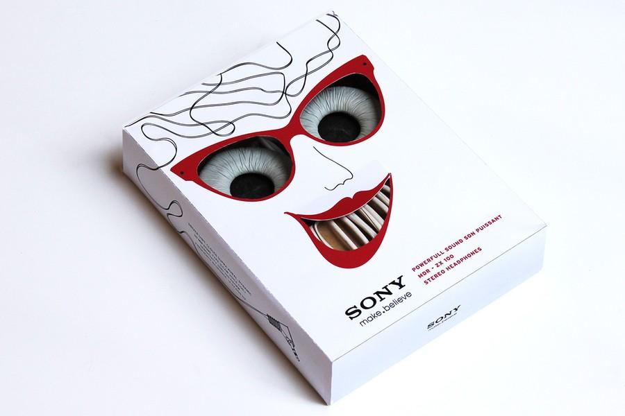 Дизайн упаковки для наушников Sony