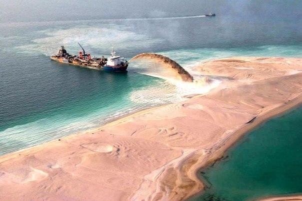 в Дубае строится искусственный остров, на котором будет располагаться коммерческая и жилая недвижимость