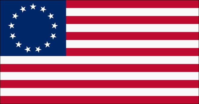 первый официальный флаг США