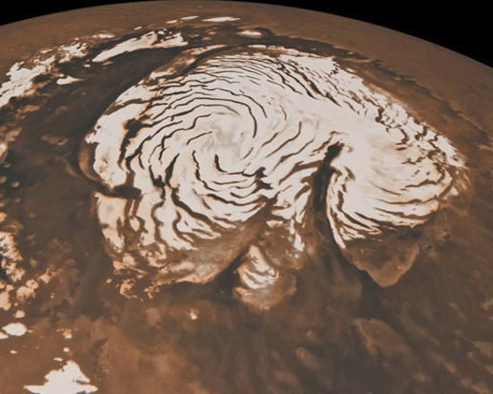 снегопад из двуокиси углерода на марсе