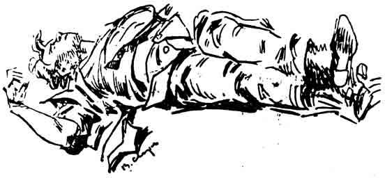 Мертвый есенин, рисунок Василия Сварога (Корочкина)