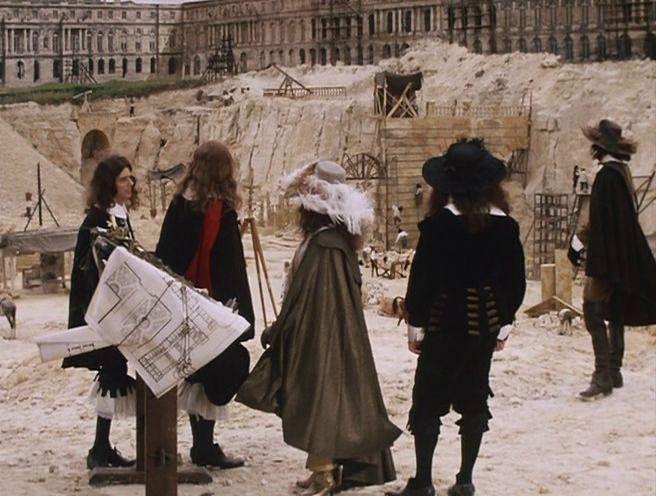 The Taking of Power by Louis XIV (1966), строительная площадка Версаля