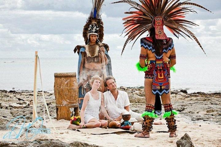 Свадьба по древним обычаям майя в Мексике