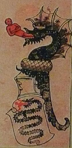 Герб Висконти из старинного манускрипта
