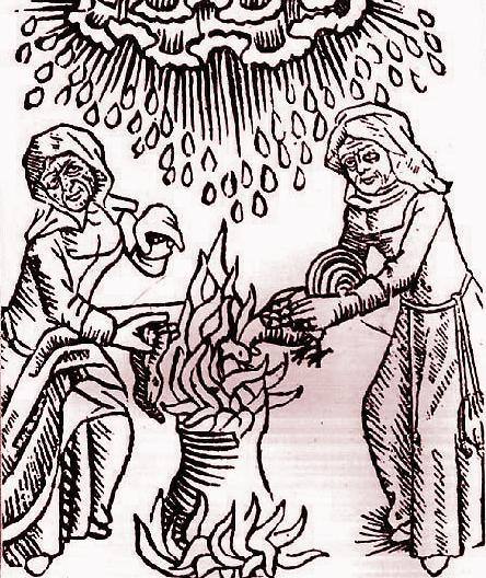 ウルリヒ・モリトール『魔女と女予言者について』(1489年)の挿絵