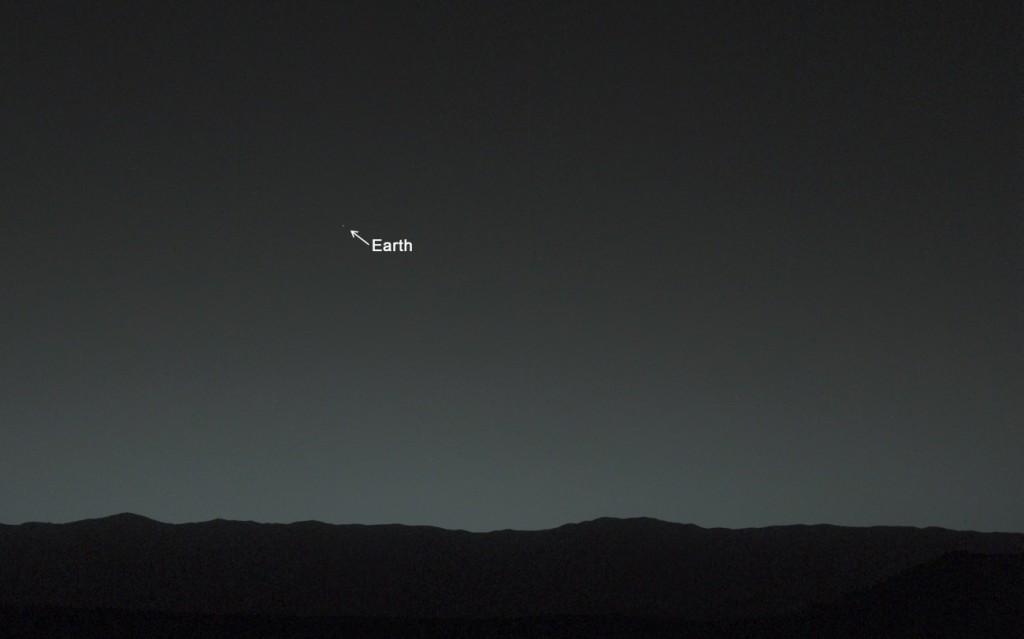 снимки Земли с поверхности Марса