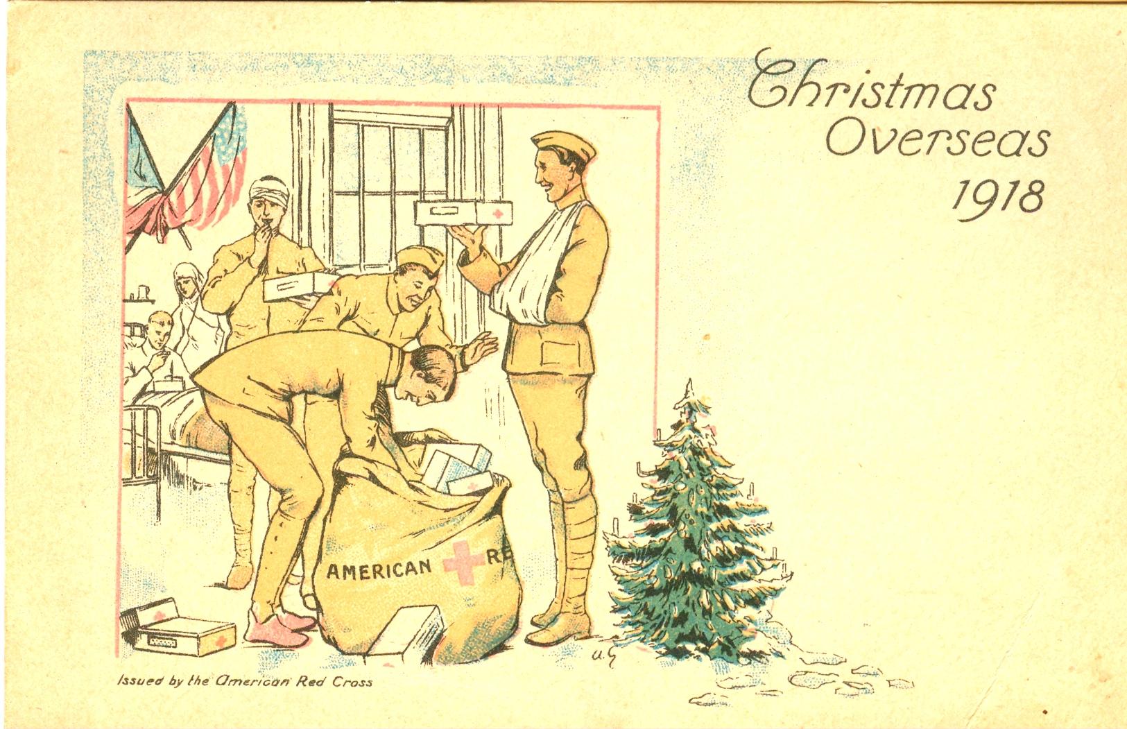 Рождественские военные открытки