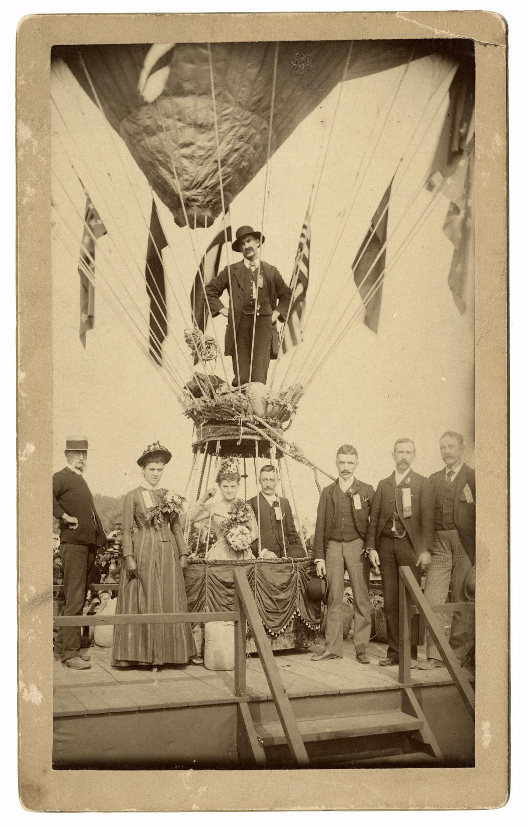 Свадьба на воздушном шаре, 1888 год