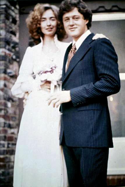 Свадьба Билла и Хиллари Клинтон, 1975 г.
