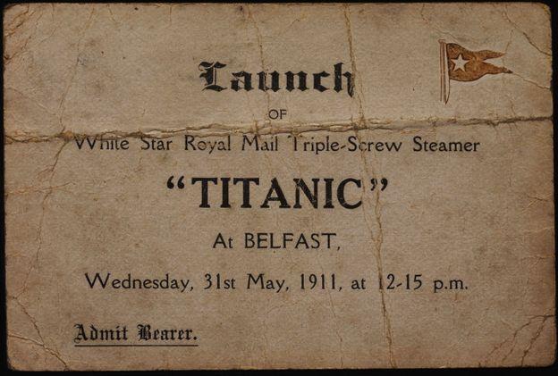 Приглашение к запуску Титаника 31 мая 1911 года