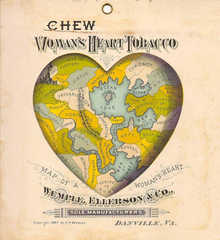 реклама табака женское сердце