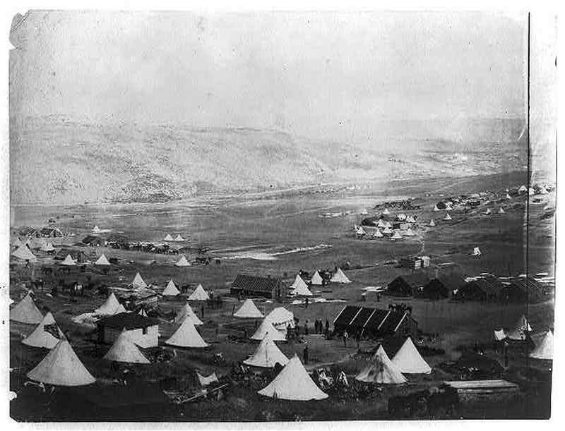 английский военный лагерь