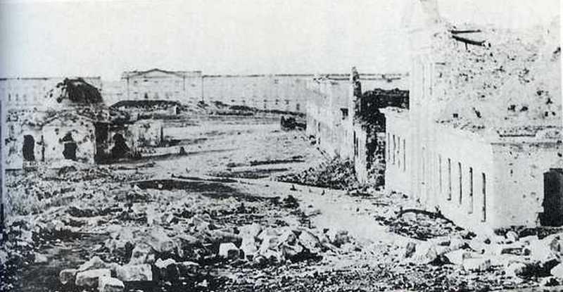 Руины севастопольских солдатских казарм