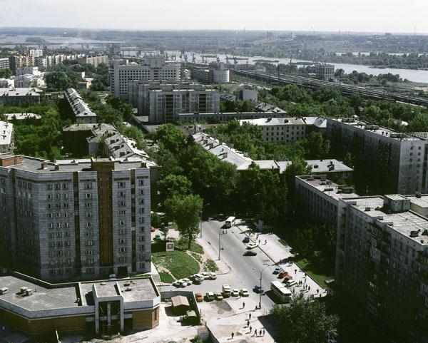 Вид с гостиницы Новосибирск на ул. Ленина
